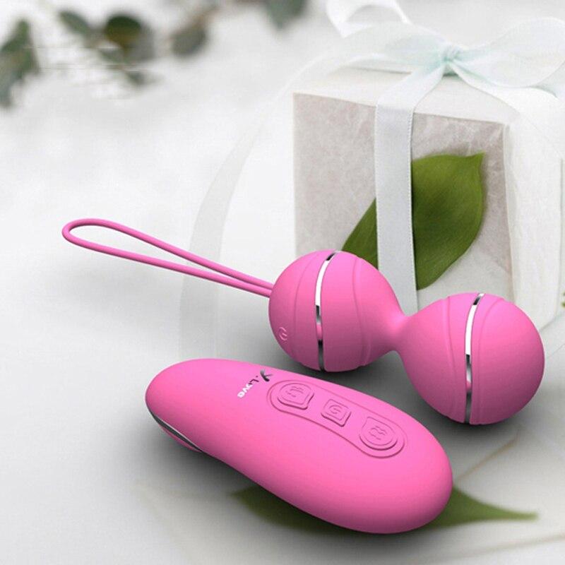 USB Sem Fio Vibrador Bolas Vaginais de Kegel Bolas Ben Wa Balls Kegel Simulador Sex Toys Vaginal Bolas Chinesas Para A Mulher S288