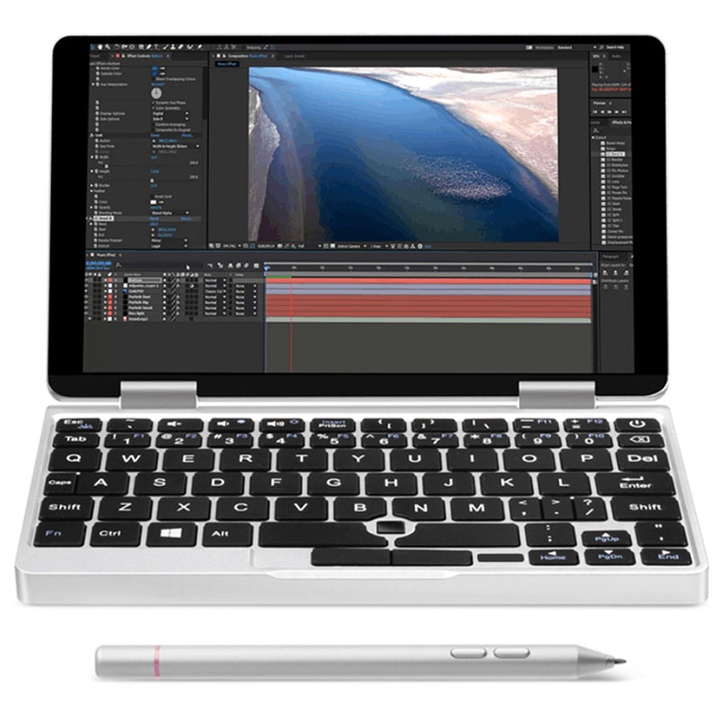 One Netbook One Mix 2S Notebook 7 inch Windows 10.1 Intel Core M3-8100Y 3.4GHz 8GB 256GB PCIE SSD Dual WiFi Type-C Micro HDMI