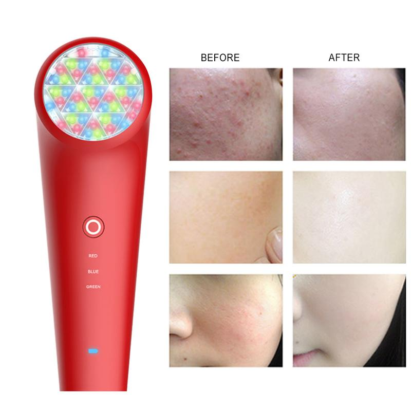 Face Skin Care Tools Beauty & Health 3 Colors Led Light Therapy Machine Facial Skin Rejuvenation E Anti Aging Anti Wrinkle Firming Face Massage Skin Beauty Tool To Be Renowned Both At Home And Abroad For Exquisite Workmanship Skillful Knitting And Elegant Design