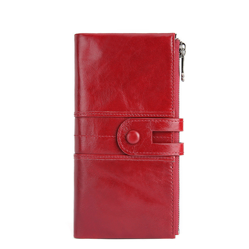 Fashion 2019 Genuine Leather Women Wallets Solid Female Purse Long Soft Womens Wallet Coin Pocket Card Holder Cartera Mujer