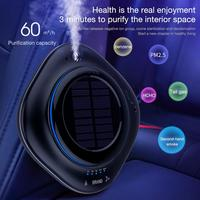 New CY002 Car Solar Air Purifier Home Solar Air Purifier Mini Humidifier Negative Ion Car Oxygen Bar Vehicle Oxygen Bar Home