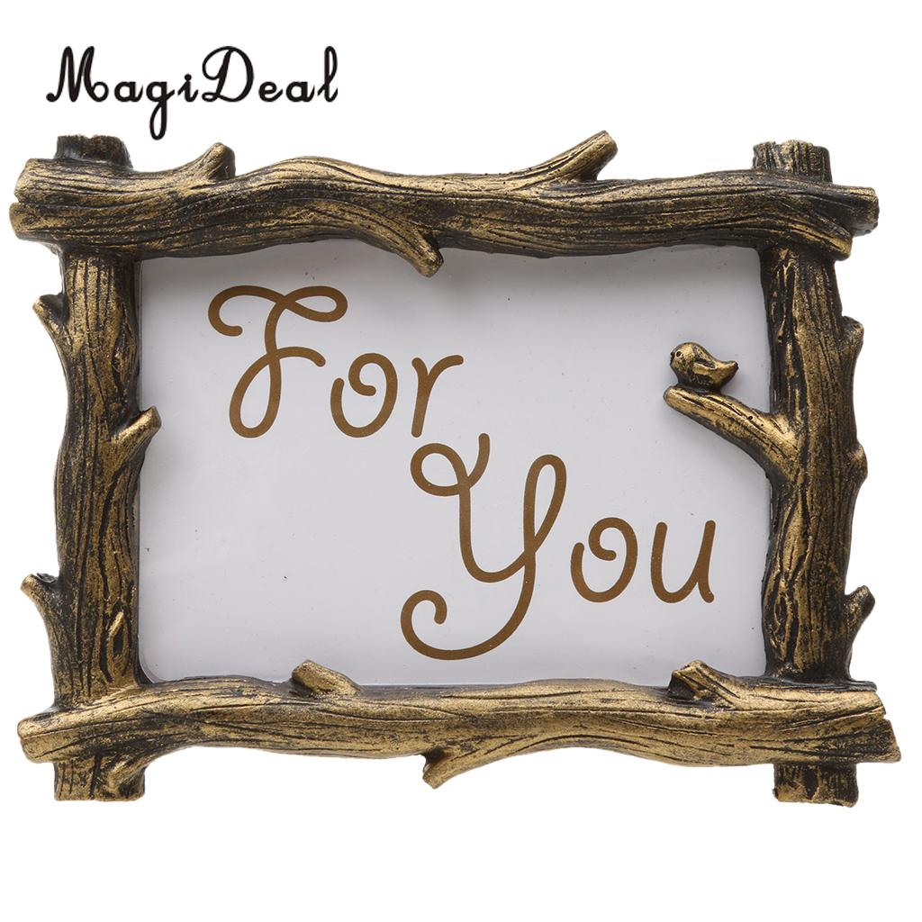 f61c24ef30b5 MagiDeal Vintage Golden Tree Branch Home Decor Photo Frame Resin Picture  Frame for Wedding Party Birthday