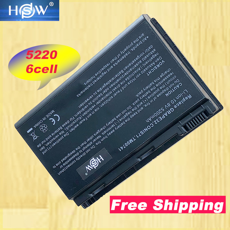HSW Free shipping Notebook <font><b>battery</b></font> laptop <font><b>battery</b></font> For <font><b>ACER</b></font> Extensa <font><b>5210</b></font>, 5220, 5620, 5720, GRAPE34, TM00741 image