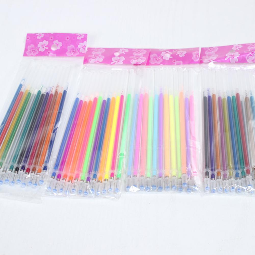 Mark Gel Pen Office School Stationery Supplies 12PCS Colorful Pen Refills Fluorescent Glitter Pen Replacement Refill  R20