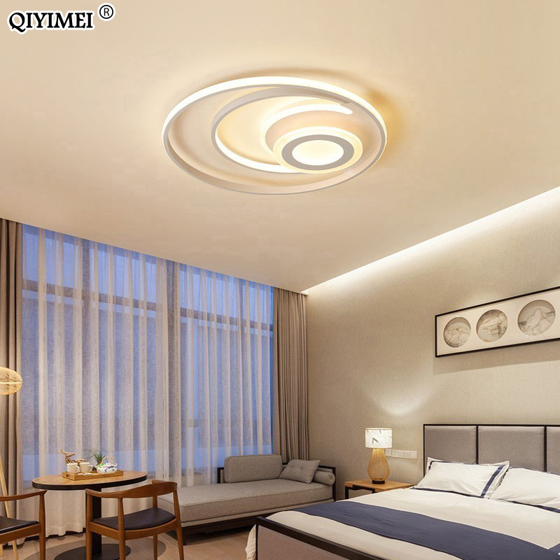 Modern New Led Ceiling Lights For Living Room Bedroom Luminarias Parasala Dimming 1 3 Heads Circle