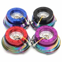 Universal Steering Wheel Quick Release Hub Snap Off Boss Kit Black Red Blue Purple 4 Color Wheel Steering Boss Kit