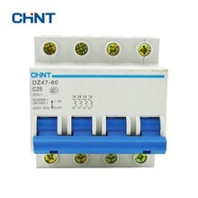 CHINT Short Circuit Protector Home Protection Miniature Circuit Breaker Air Switch DZ47-60 4P C25 MCB schneider circuit breaker c120h 4p d63a