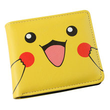 Japan anime Pokemon pikachu wallet Anime Cosplay men women Bifold yellow Purse(China)