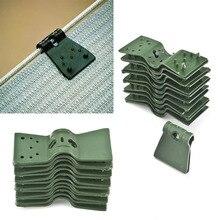 20 шт. держатель закрепить повесить расширение тени ткань теплицы тени сетки зажимы зеленый