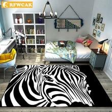 RFWCAK креативный ковер в полоску зебры, ковер для гостиной, спальни, большой ковер с головой тигра, напольный коврик, коврики для кухни
