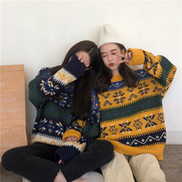JOEYOUNG Vintage women sweater Casual long sleeve pullover female Autumn winter jumpers Christmas Ladies Warm Sweaters Clothing