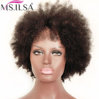 Sassy Curl Human Hair Wigs For Black Women 130% Density Brazilian Remy Hair Machine Made Wigs Full End MS.ILSA
