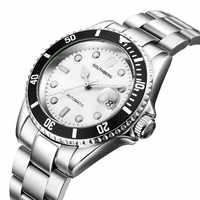 relogio masculino New brand wristwatch mens designer watches automatic watch men day date fashion luxury Automatic silver clock