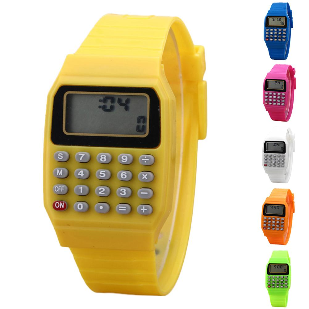Creative And Convenient Children Digital Square Wrist Watch Mini Portable Calculator Exam Tool Kids Gift