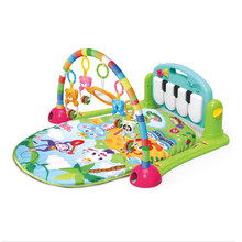 Kick and Play Piano Gym New Born Baby Discover Education Toys Activity Mat With Light Music for Baby (Green)(China)