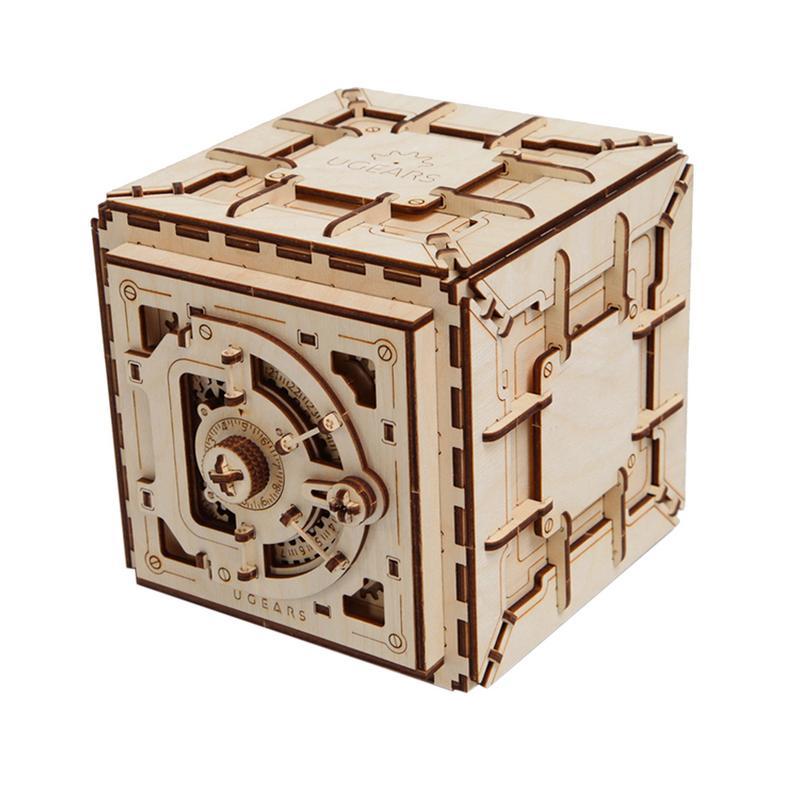Bricolage créatif 3D assemblage en bois Puzzle jouet serrure innovante boîte au trésor Transmission mécanique romantique saint valentin cadeau - 2