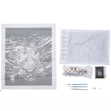 DIY Oil Paint,Paintworks Paint By Number- Water Tiger 16x20inch (Frameless)