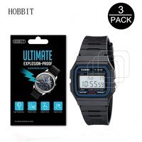 3PACK Nano Explosion-proof Screen Protector For Casio Men's Classic F91W-1 High Definition Anti-shock Smartwatch LCD Guard Film