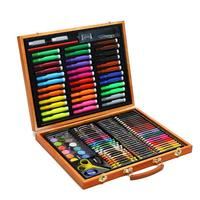 150 Sets Of Wooden Boxed Children's Gifts Watercolor Pen Set Painting Learning Stationery Box Children's Drawing Graffiti Tools