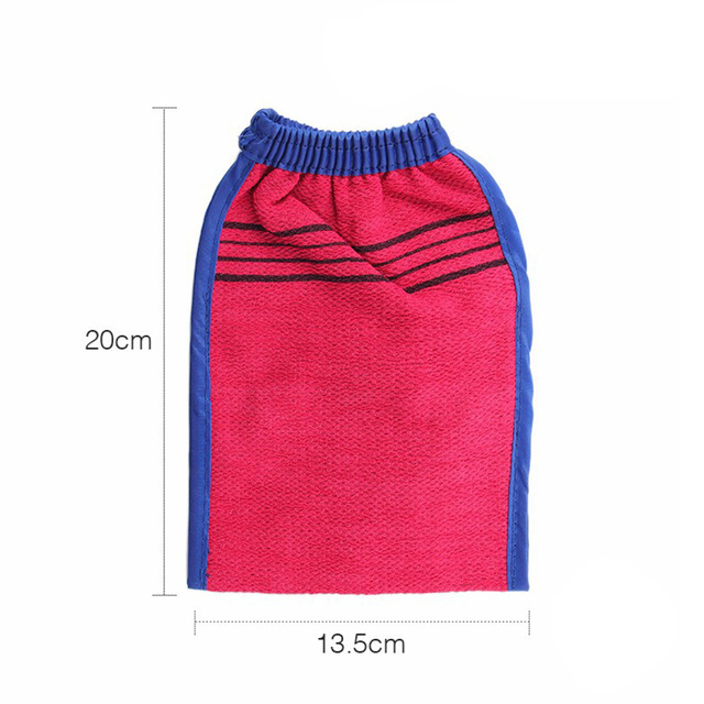 4 Pcs Scrub Glove Exfoliator Body Exfoliating Spa Deep Cleansing Double Sided Glove Mitt for Men Women 3