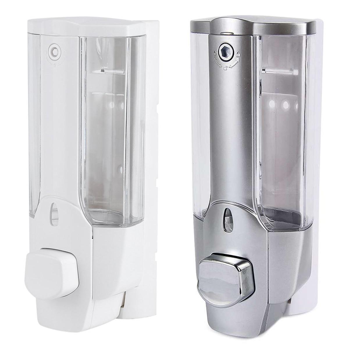 350ml Kitchen Bathroom Wall Mounted Liquid Soap Dispenser Bathroom Hand Sanitizer Dispenser Shower Gel Shampoo Containers