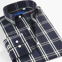 Smart Five Brand Long Sleeve Casual Shirts For Men Designs High Quality Cotton Slim Men Shirts Dress Shirts Big Size 45 46