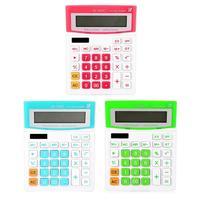 Mini calculadora de 12 dígitos botão grande calculando ferramentas papelaria de escritório