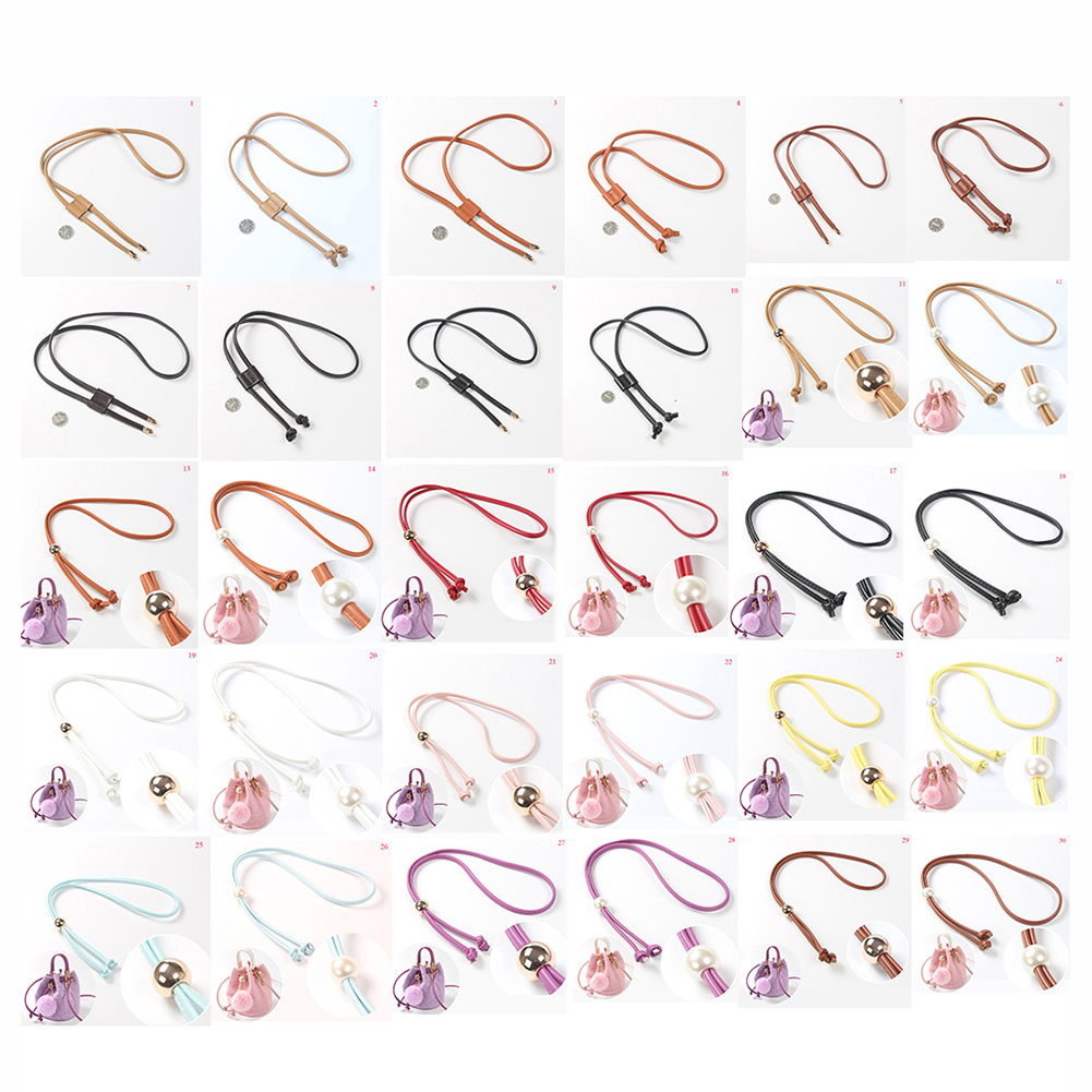 2019 New Fashion Bag Belt Detachable Bucket Drawstring Bunches Bag Strap Pu Leather High Quality Accessories For Bags Hot Sale
