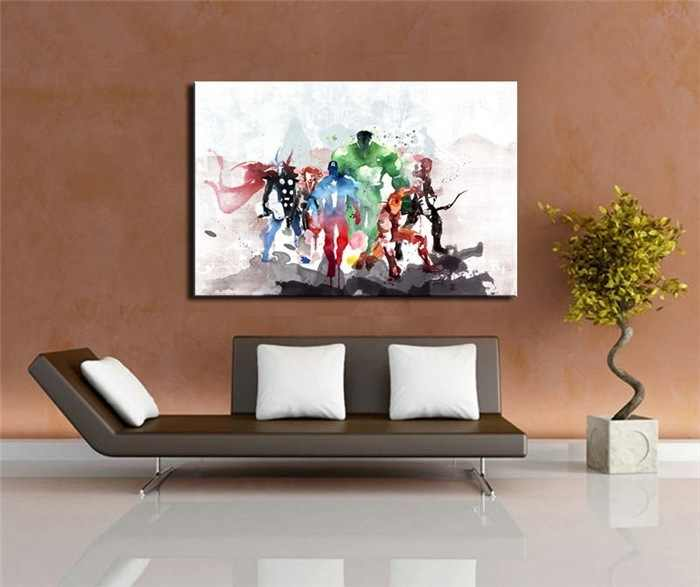Watercolor Abstract Marvel's The Avengers Canvas Painting Home Living Room Art Oil Painting Fresco Frameless Drawing Posters