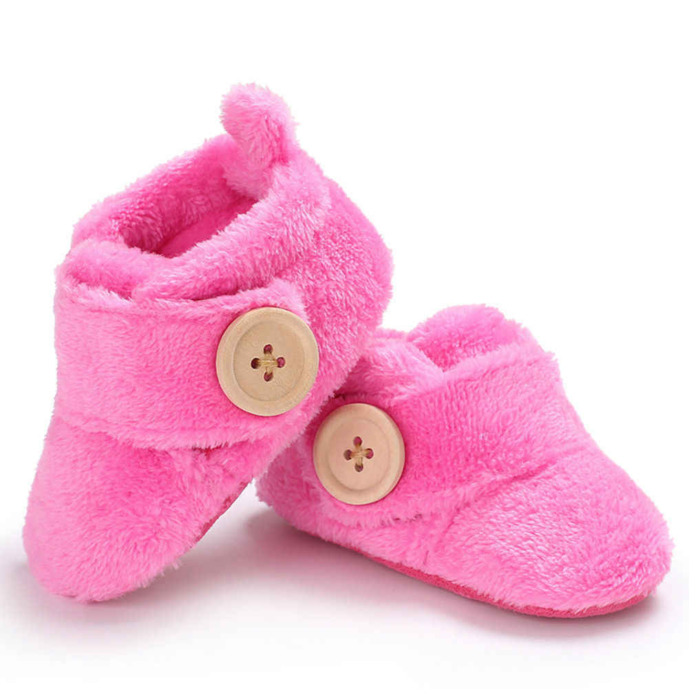 NEW Baby Girl Newborn Booties Fluffy Slipper Shoes Size 0-6 months *Pink White*