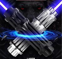 HOT! High power mw Blue laser pointer 500000m 450nm SOS Lazer Flashlight Burning match/Burn light cigars/candle/black Hunting