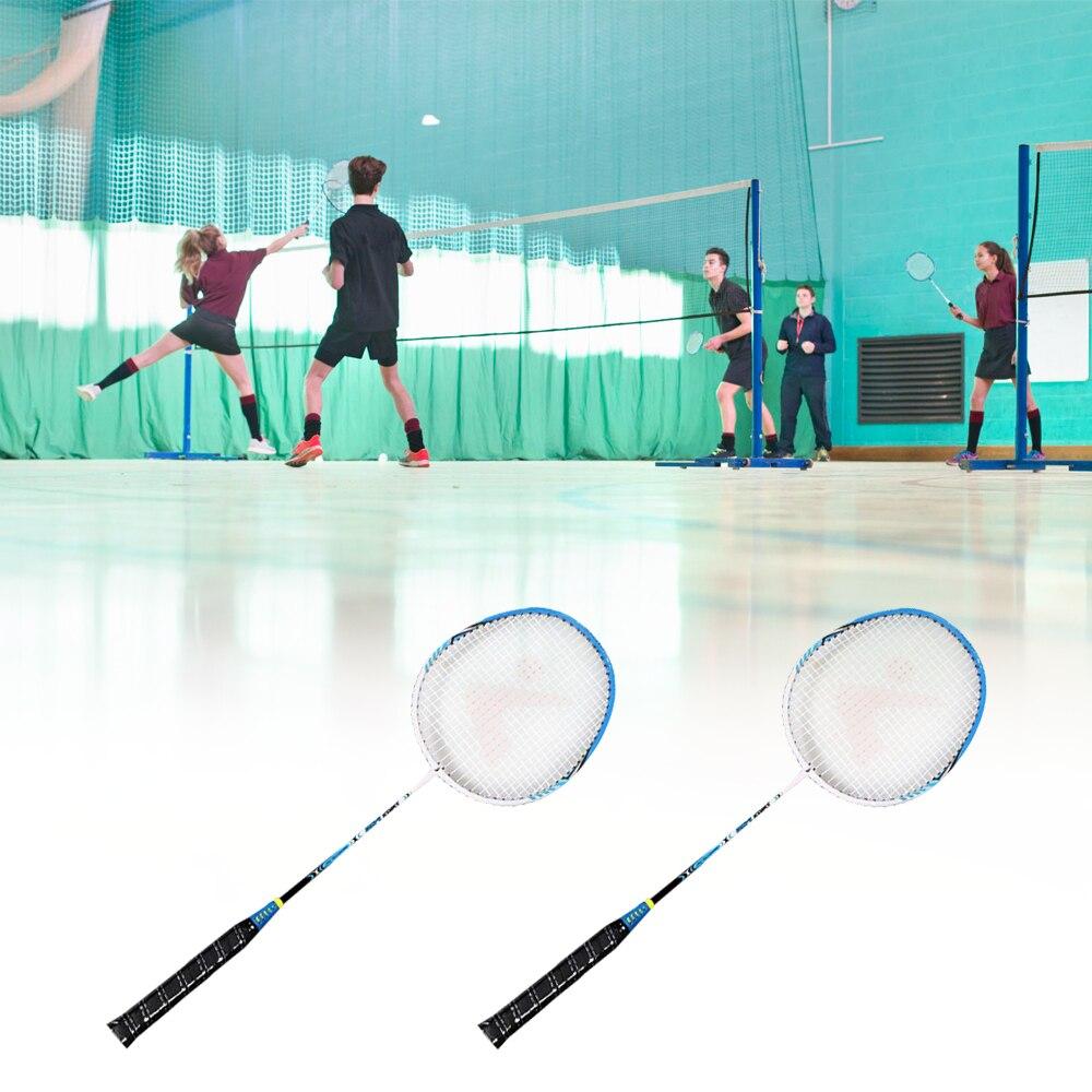 Professional 2 Player Badminton Racket Set Aluminum Indoor Outdoor Sports Practice Badminton Racquet With Cover Bag 2019