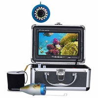 7 inch HD 1000TVL 15M 15PCS LED / 15PCS Infrared Light DVR Recorder Underwater Fishing Camera Kit Aluminum Alloy Fish Finder