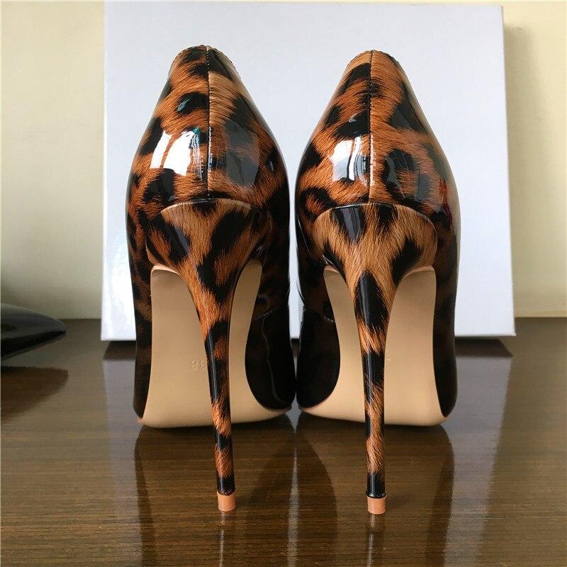 Chaussures Mode Qualité black Top Pompes white Léopard Couleur Luxe 2018 8cm Nouveau Progressif Pointu Hauts Changement Mince De Bout 10cm Black Femmes 12cm Leopard Talons TqZxpq