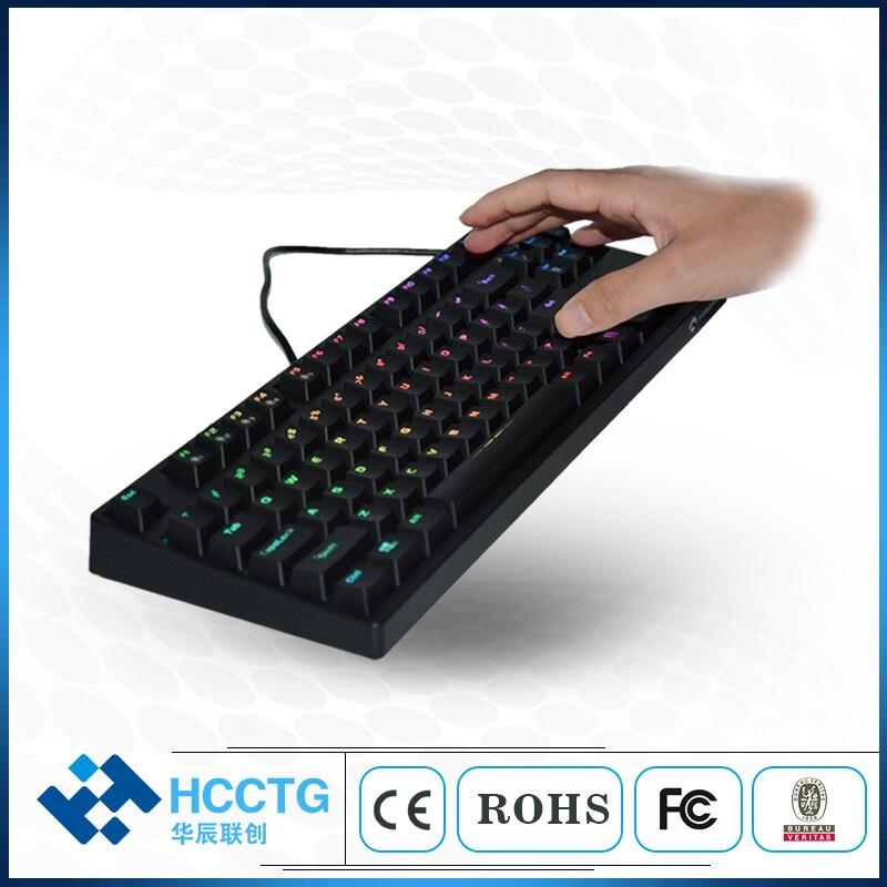 Blanc cerise MX rouge avec clavier de jeu mécanique rétroéclairé blanc HGK87B-R-W-US