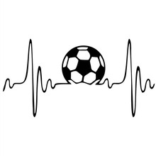 Soccer Vinyl Die Cut Decal Bumper Sticker For Windows Trucks Cars Laptops