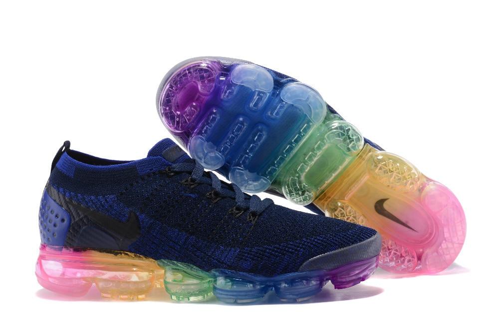 aa83fe17b6d8d0 NIKE 2018 Air VaporMax Flyknit 2.0 W Men Rainbow Bottom Breathable Running  Shoes