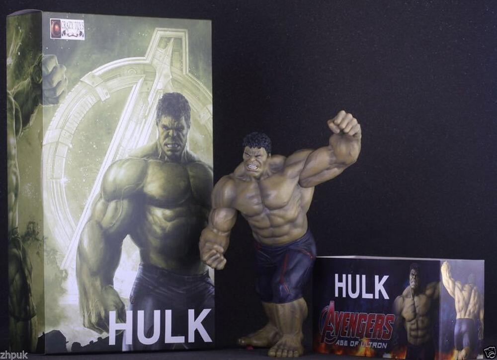 "10/"" MARVEL THE AVENGERS Toy Hulk Hot Action Statue Figure Crazy Toys Kids Gift"