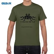 GILDAN men short sleeve t shirt Game T shirts The Flying Spaghetti Monster Mens Cotton Pattern Flocking Print Tops Casual tee