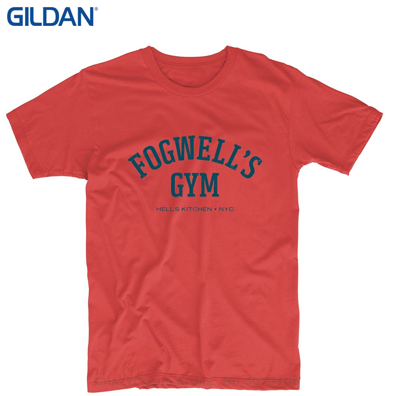 Print T Shirt Men Hot Fogwell's Gymnasium Hell's Kitchen Daredevil Mens & Womens Custom Sex Si T Shirt
