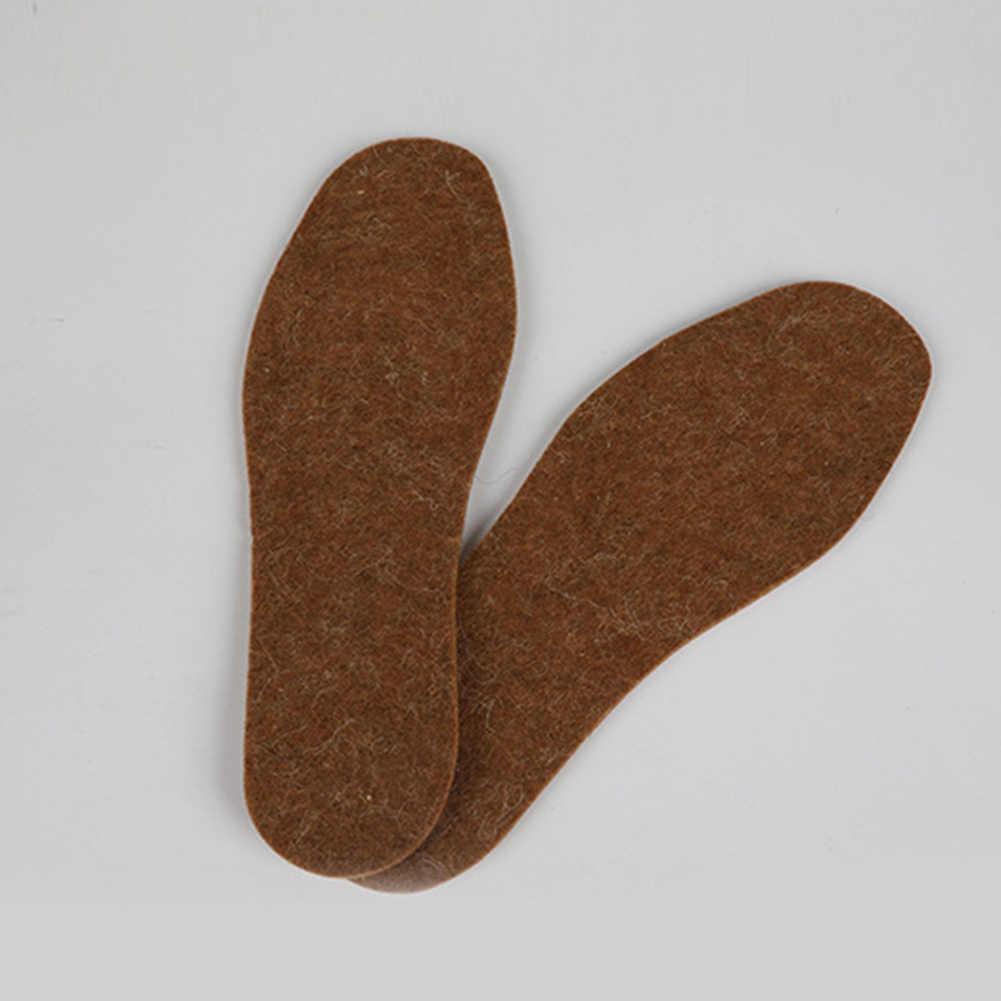 1 çift Yün Tabanlık Kış Kalın Yumuşak Sıcak Peluş Nefes Unisex pamuklu ayakkabılar Pedleri Katı Renk Kış sıcak Tabanlık
