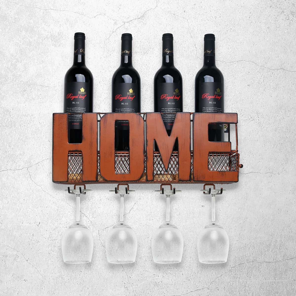 Estante de vino montado en la pared contenedor de almacenamiento de corcho soporte de vidrio con 4 encantos de vino de corcho estante de almacenamiento para el hogar Decoración de cocina vino rack-in Botelleros from Hogar y Mascotas    1