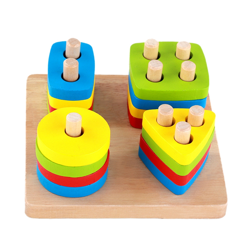 Baby Toys Wooden Blocks Shape Jointed Board Teaching Learning Education Building Chopping Block Match Toy For 0-3 Years Shape Baby Toys Wooden Blocks Shape Jointed Board Teaching Learning Education Building Chopping Block Match Toy For 0-3 Years Shape