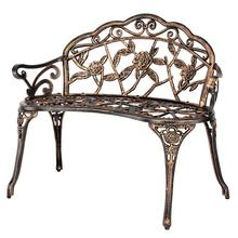 European Cast Aluminum Rose Chair Outdoor Bench Balcony Living Room Double Chair Park Chair Leisure Garden Table And Chair Decor все цены