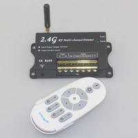 RF Remote Control Led Strip Dimmer 12v 24v 2.4G Led Dimmer 12V 24V PWM Dimmer Wireless Remote Control Led Lamp 4 Channel