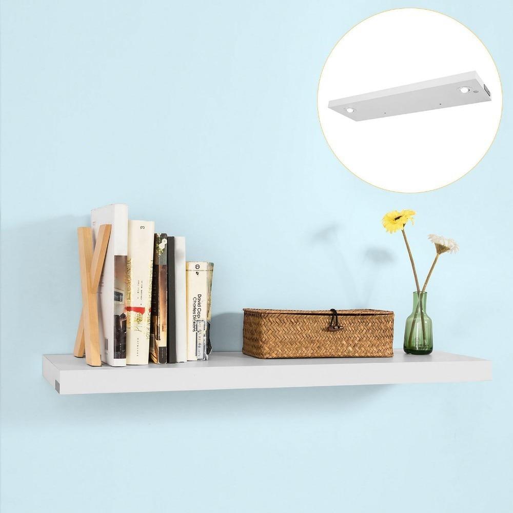 WDR01, LED Wall Floating Shelf Illuminated Storage Display Shelf
