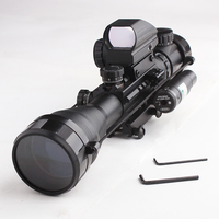 Dot Red Riflescope Airsofts Green Sight Gun Optics Laser 4 12X50EG Rifle Tactical Hunting Scope Air Holographic