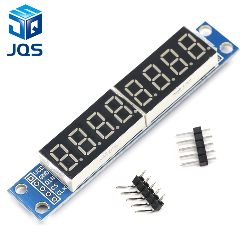 MAX7219 LED Dot Matrix 8 Digit Digital Tube Display Control Module For Arduino 3.3V 5V Microcontroller Serial Driver 7-segment