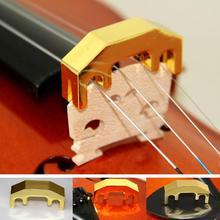 Глушитель для скрипки, мини металлический Репетиционная сурдина, глушитель для скрипки, золотистый легкий, прочный, повседневный