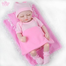 Logeo Baby 10 Reborn Doll Mini Realistic bebes reborn doll clothes Dollhouse Toys kits Sleeping Newborn baby Girl lol